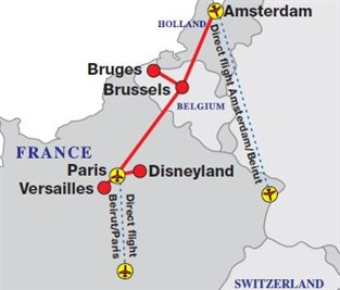 Map Of France And Holland Belgium.France Belgium And Holland