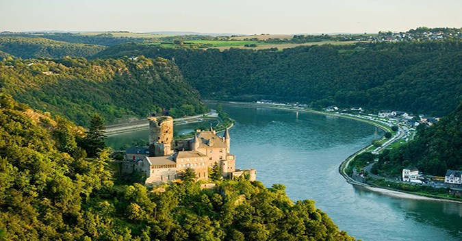 The Romantic Rhine valley and the rock of the Lorelei